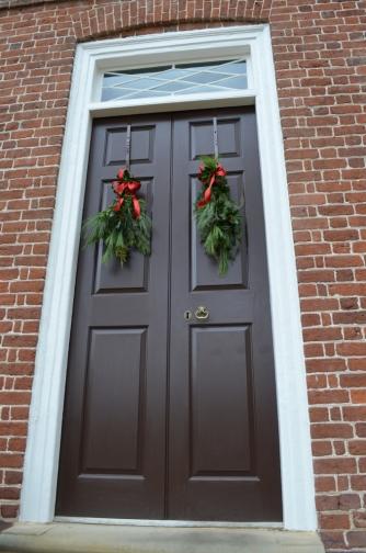 Festive doors.