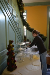 In the Passage, we re-create a dessert table Betty Lewis might have created to impress her holiday guests.