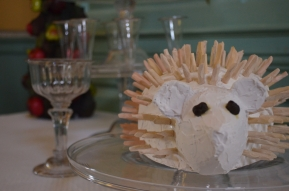 There is also a hedgehog cake, a favorite of Martha Washington's at Mount Vernon.