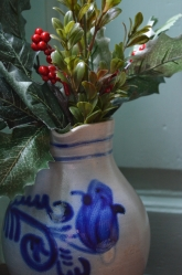 Branches of pine or holly would be placed in clay jars and set on tables or mantels.