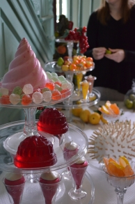 The desserts served as the centerpiece of a Twelfth Night ball.