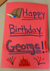 Visitors even made birthday cards for George!