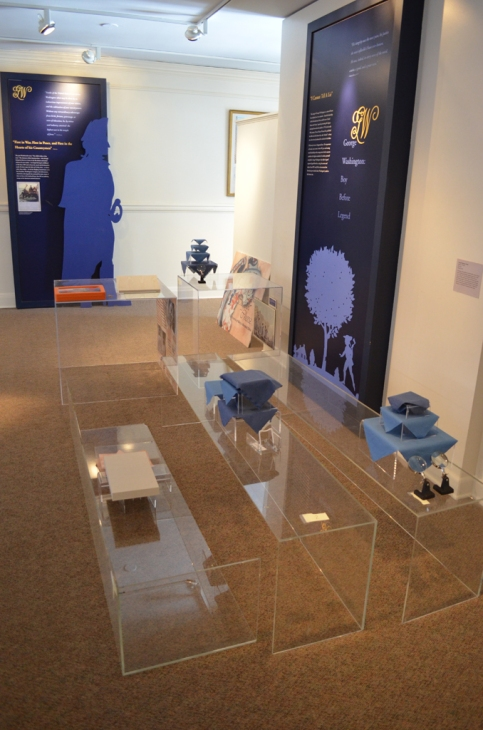 Glass covers await to be reunited with the display cases.
