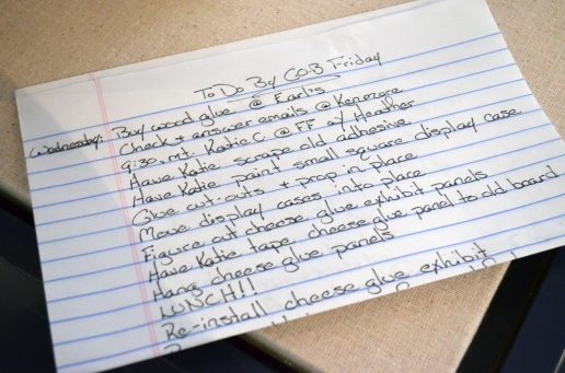 To-Do-List. Don't forget LUNCH!!