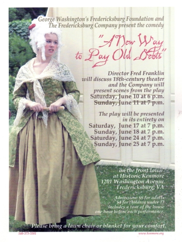 "We occasionally present plays other than Shakespeare's. Back in 2006, it was ""A New Way to Pay Old Debts,"" a satire popular in the 18th century."