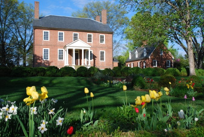Spring time in the gardens at Kenmore Plantation