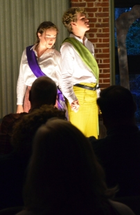 Imogen (Corinn Keene) and Posthumus secretly marry.