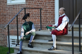 Lawrence (Elijah Beale) questions his father Fielding about whether all the sacrifices he made are worth independence.