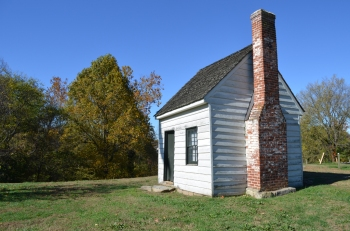"The so-called ""Surveyor's Shed,"" long-held by local legend to be George's surveying office, actually dates from the late 1800s."