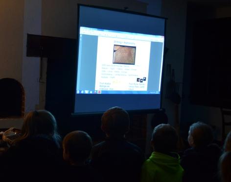 Young visitors enjoy Mr. Holliday's presentation.
