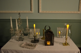 A display of 18th century lighting technology.