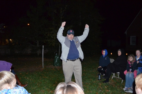 Zac Cunningham, Manager of Educational Programs, told stories about the constellations. Here Zac recounts how Hercules flung two bears into the night sky and created the constellations Ursa Major and Ursa Minor.