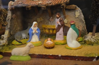 """""""Santons"""" submitted by Anna Jennings. A Santon is a small hand-painted terracotta Nativity scene figure made in France's Provence region."""