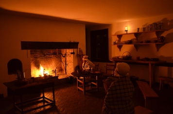 Rachel (Gladys Perkins), enslaved cook, and Hetty (Ashlee James), enslaved washerwoman and house servant, ponder the future.
