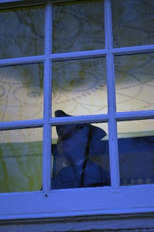 George Lewis (Joe Ziarko) gazes out the window and ponders enlisting in the Continental Army.