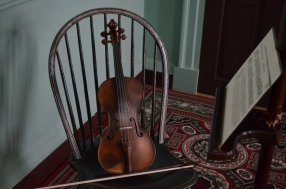 Two-hundred-year-old violin on display in Kenmore's dining room