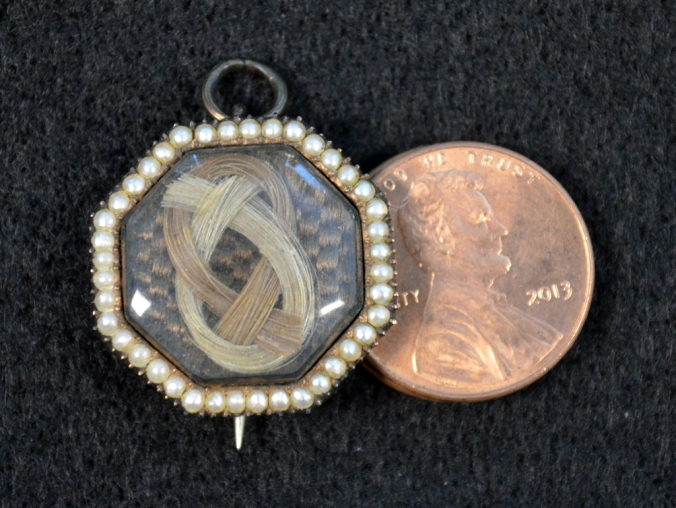GW Locket Brooch