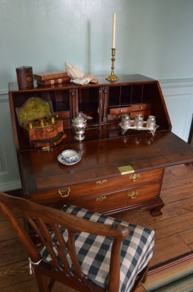 Betty's desk in the Chamber at Kenmore.
