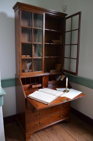 The bookcase-on-desk in Fielding's Office.