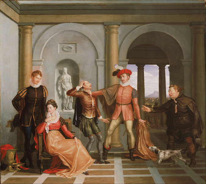 Washington Allston, American - Scene from Shakespeare's The Taming of the Shrew (Katharina_and_Petruchio)