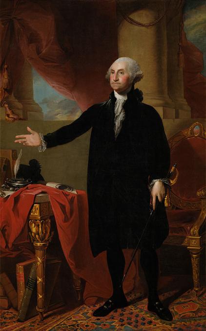 George Washington by Gilbert Stuart (1796). Public domain.