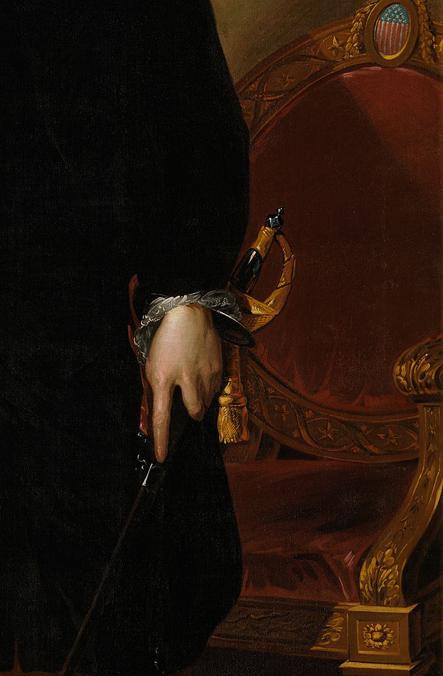 George Washington by Gilbert Stuart Sword