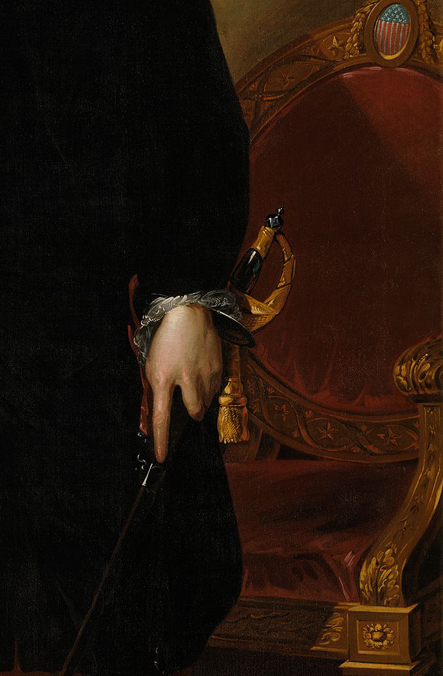 George Washington by Gilbert Stuart Sword