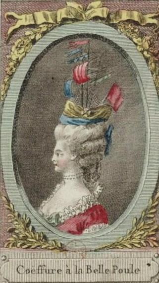 """A realistic view of the """"Coiffure à la Belle Poule."""" Public domain. Credit: Bibliothèque nationale de France/Wikipedia."""