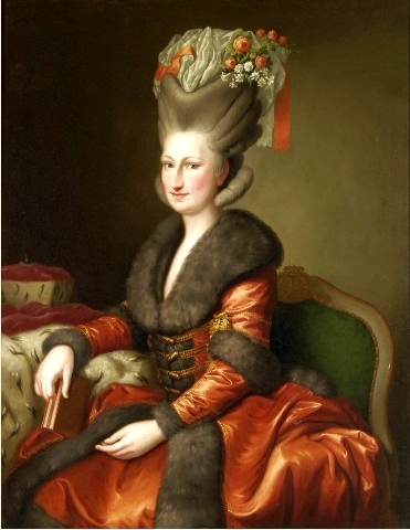 Portrait of Maria Amalie Auguste of Saxony in Polish costume (1780) by Heinrich Carl Brandt. Public domain. Credit: Royal Castle in Warsaw/Wikipedia.