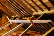 In the attic there is a rowing scull left behind by late 19th century resident William Key Howard, Jr., who also repaired the house's plaster ceilings after extensive damage during the Civil War.