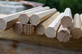 Wooden pegs.