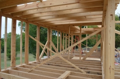Joists above and below.