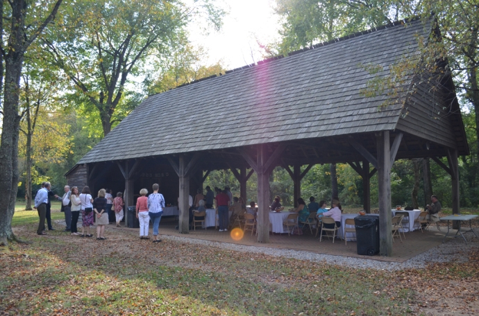 The reception took place under Ferry Farm's Great Oak Pavilion on a beautiful fall day!