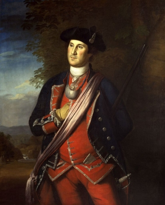 Portrait of George Washington, 1772 by Charles Willson Peale. Credit: National Portrait Gallery