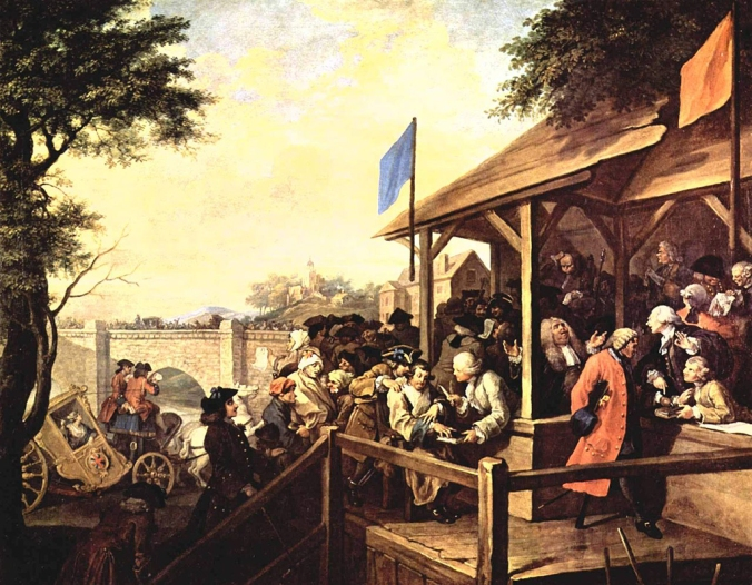 the-polling-by-william-hogarth
