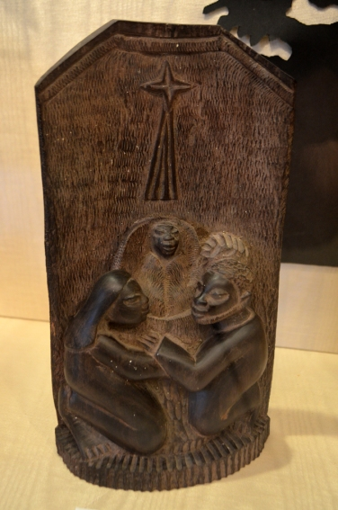 """Wooden Nativity"" from Tanzania - Anna Jennings"