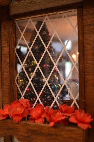 Tree through the window of Tattersall Hall