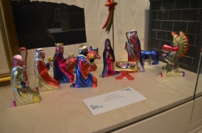 """""""Painted Metal Nativity"""" from Mexico - Anna Jennings"""