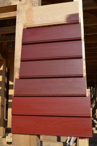 """Eventually, the house will be painted this color known as """"Spanish brown."""""""