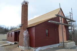 North and east side of house complete.