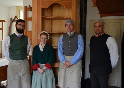 The joiners at Colonial Williamsburg (l-r): Peter Hudson, Amanda Doggett, Scott Krogh, Ted Boscana.