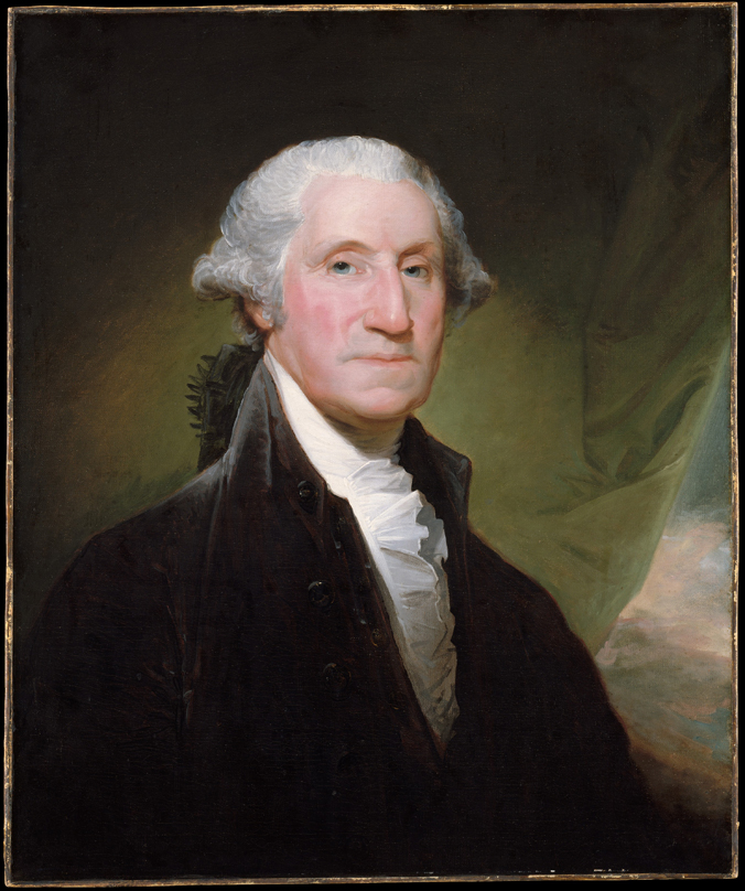Portrait of George Washington (1795) by Gilbert Stuart