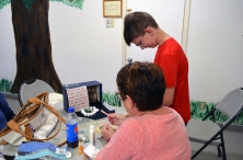 At the end of the day, campers were given an object that they used to create a diorama telling the story of the object.