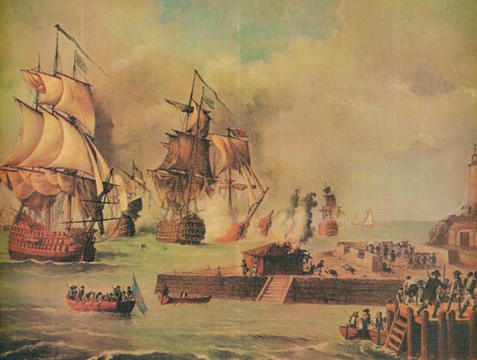Defensa de Cartagena de Indias por la escuadra de D. Blas de Lezo, año 1741 by Luis Fernández Gordillo