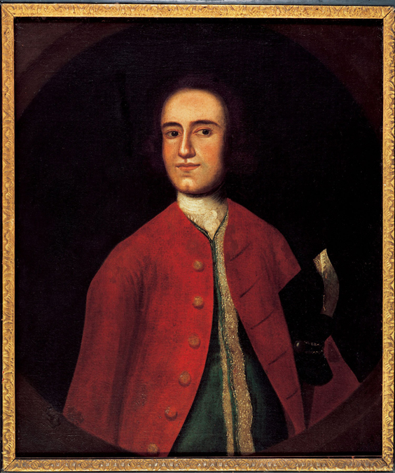 Lawrence Washington attributed to Gustavus Hesselius (c 1738)