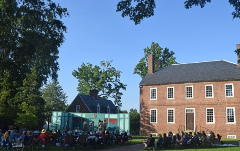 A beautiful evening for a play on Kenmore's lawn!