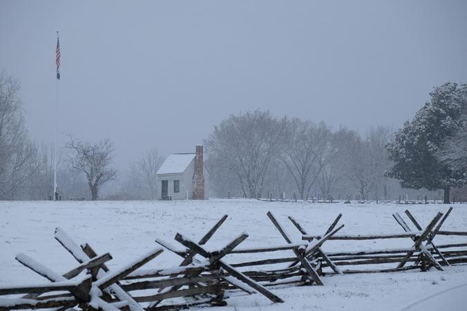 Surveyor's Shed in Winter