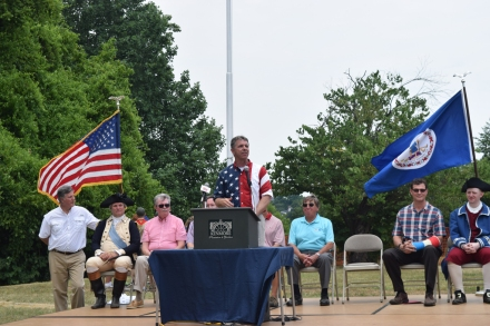 Congressman Rob Wittman speaks during the annual Flag Retirement Ceremony.