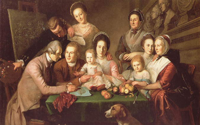The Peale Family by Charles Willson Peale