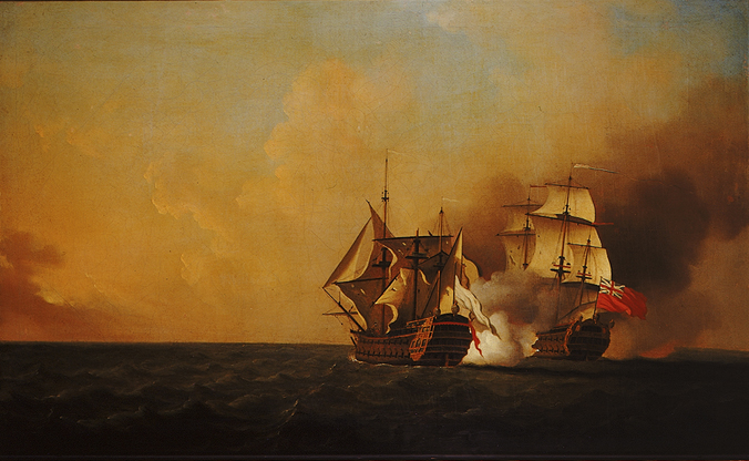Action Between Nottingham and Mars, 1746 by Samuel Scott